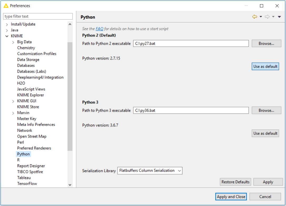 KNIME Python Integration Installation Guide